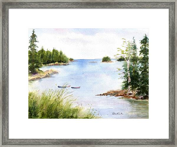 Pickering Cove Framed Print