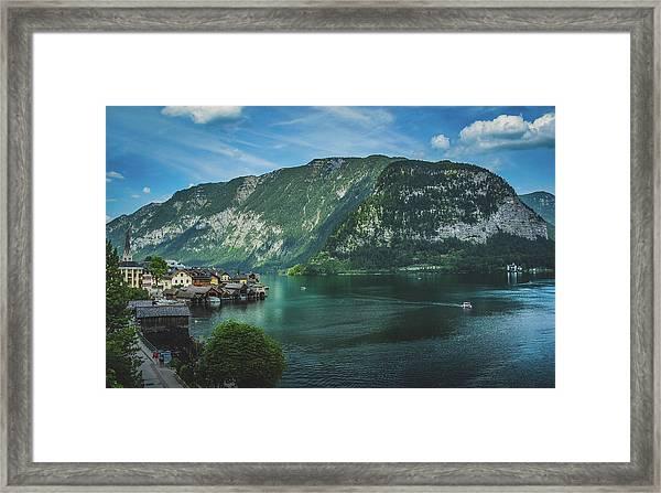 Picturesque Hallstatt Village Framed Print