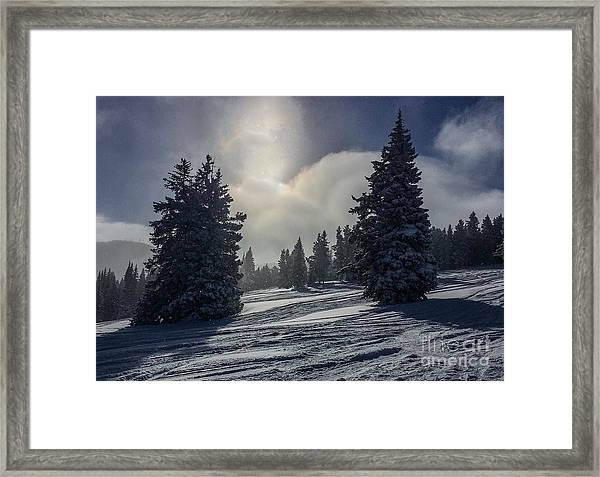 Peaceful Morning After The Stormvery Chilly Morning Framed Print