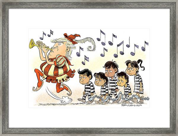 Pied Piper Trump And Infestation Framed Print