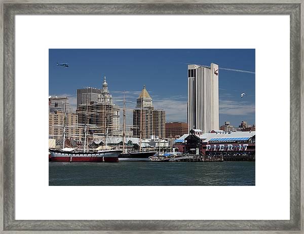 Pier 17 Nyc Framed Print