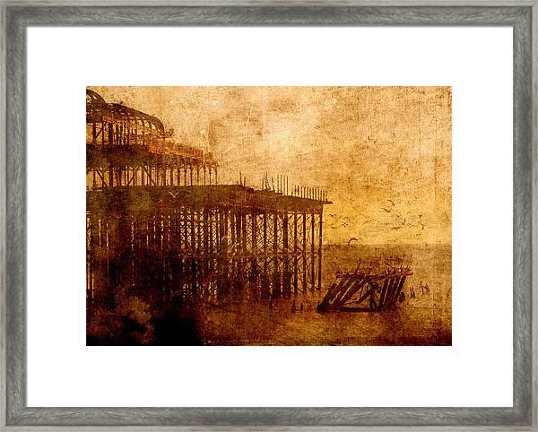 Pier Into The Depths Framed Print