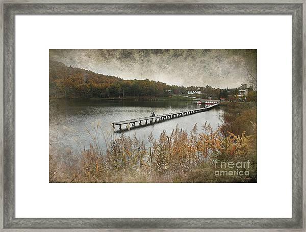 Pier Love Framed Print