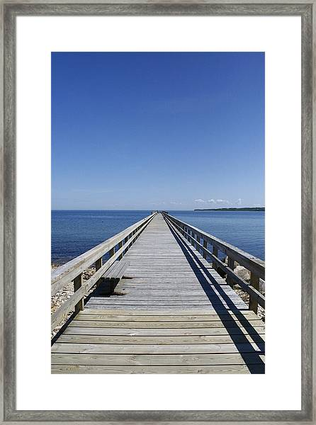Pier On Fort Pond Bay Montauk Framed Print