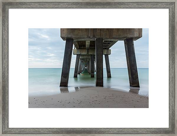 Pier Portal Framed Print