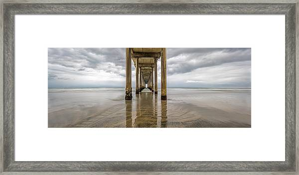 Framed Print featuring the photograph Pier Review by Dustin  LeFevre