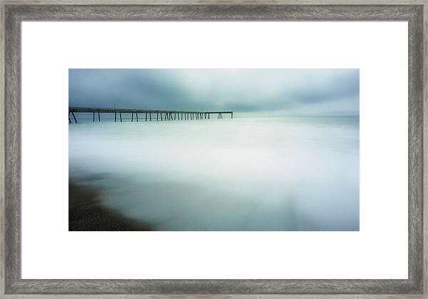 Pier Framed Print by Steve Spiliotopoulos