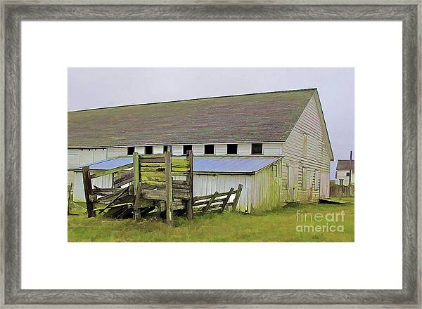 Pierce Pt. Ranch Barn Framed Print