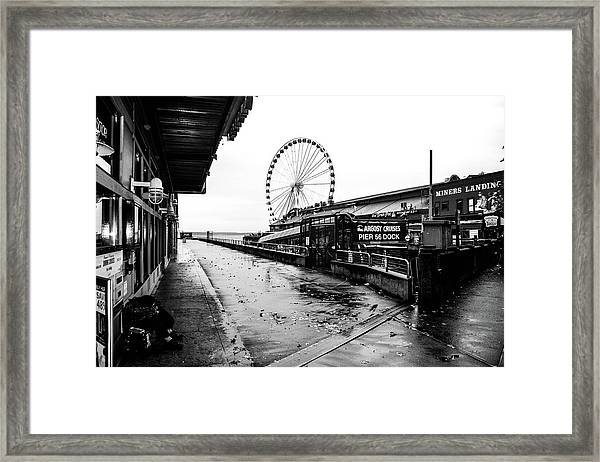 Pierspective  Framed Print