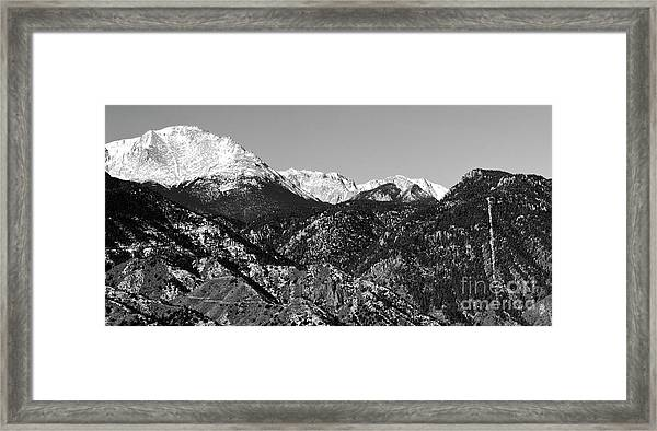 Pikes Peak And Incline 36 By 18 Framed Print