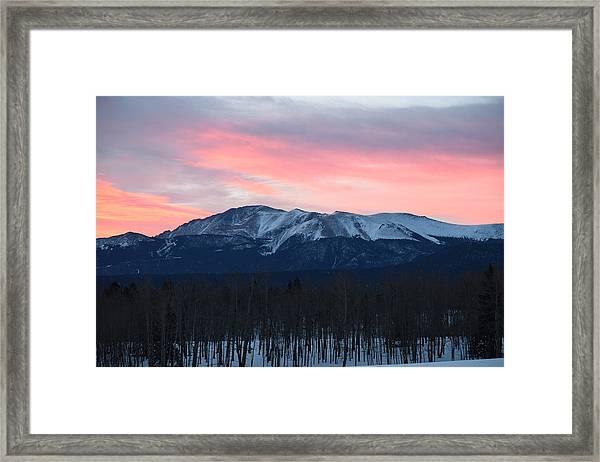 Sunrise Pikes Peak Co Framed Print