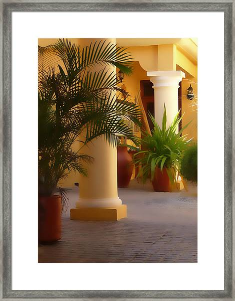 Pillars And Palms Framed Print