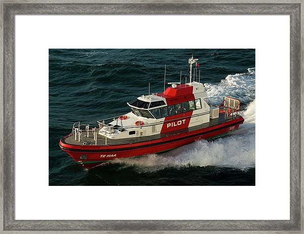 Pilot Boat Wellington Framed Print