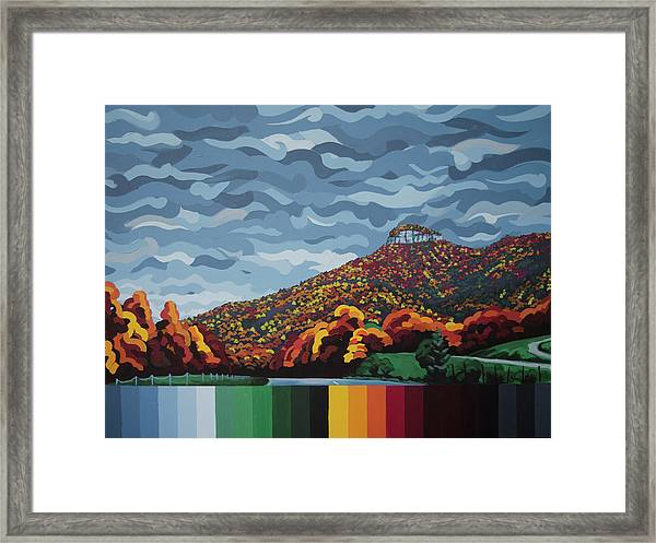 Pilot Mountain Fall Framed Print