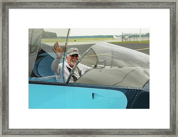 Pilot Vic Vicari Framed Print