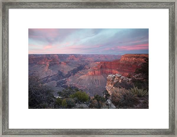 Pima Point Sunset Framed Print