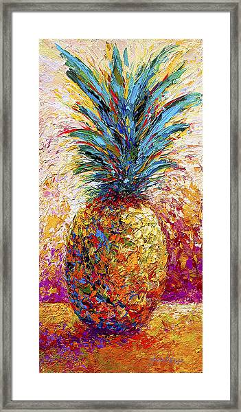 Pineapple Expression Framed Print