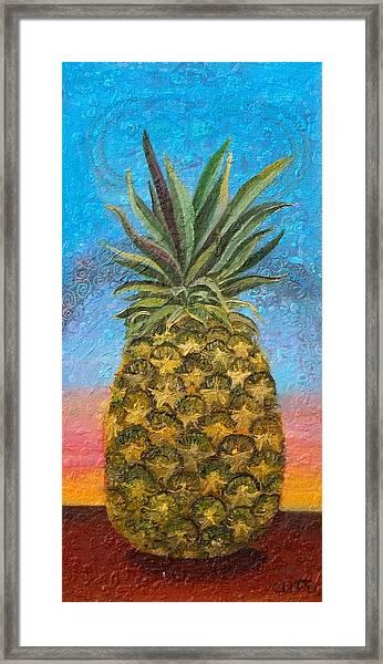 Pineapple Sunrise Or Pineapple Sunset Framed Print