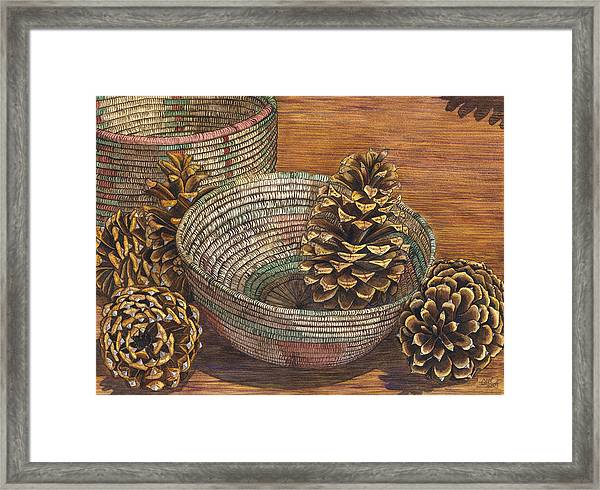 Pinecones Framed Print