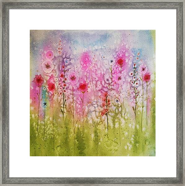 Pink Abstract Framed Print