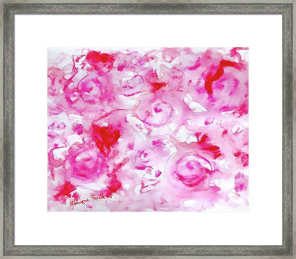 Pink Abstract Floral Framed Print