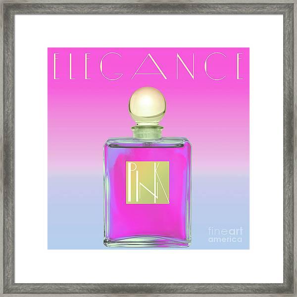 Pink Art Deco Perfume Framed Print
