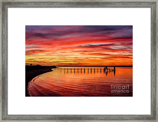 Framed Print featuring the photograph Pink Bay by DJA Images