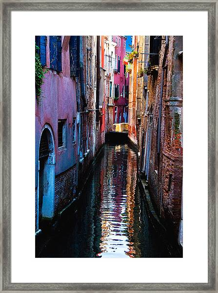 Pink Canal Framed Print
