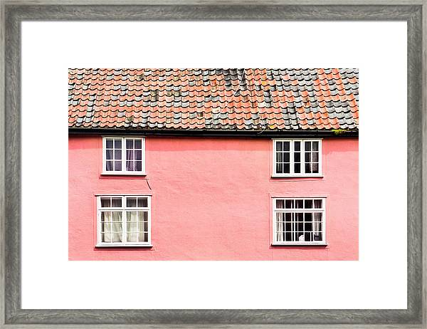 Pink Cottage Framed Print
