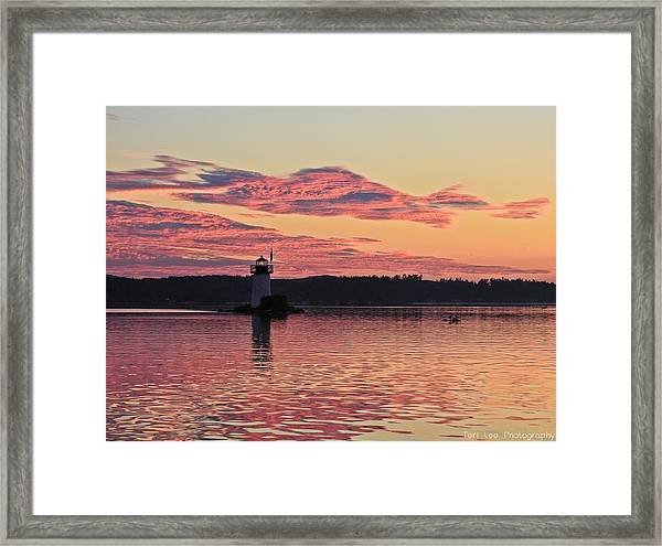 Pink Fire Framed Print