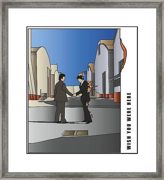 Pink Floyd - Wish You Were Here Framed Print