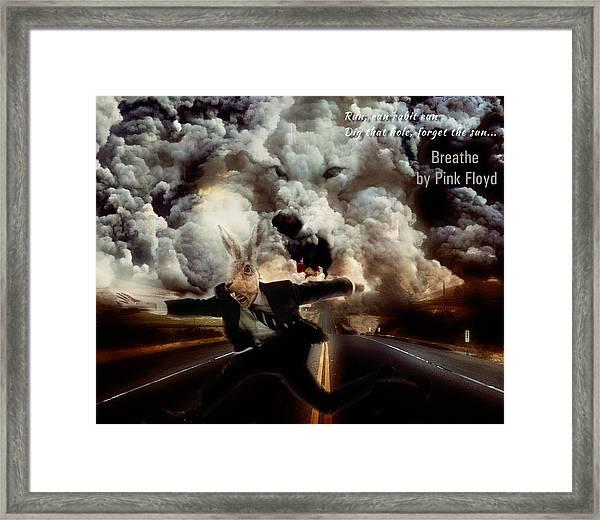 Pink Floyd Breathe Framed Print