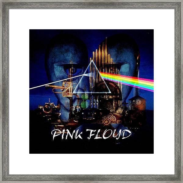 Pink Floyd Montage Framed Print