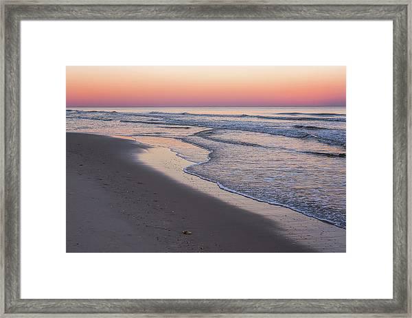 Pink Glow Seaside New Jersey 2017 Framed Print