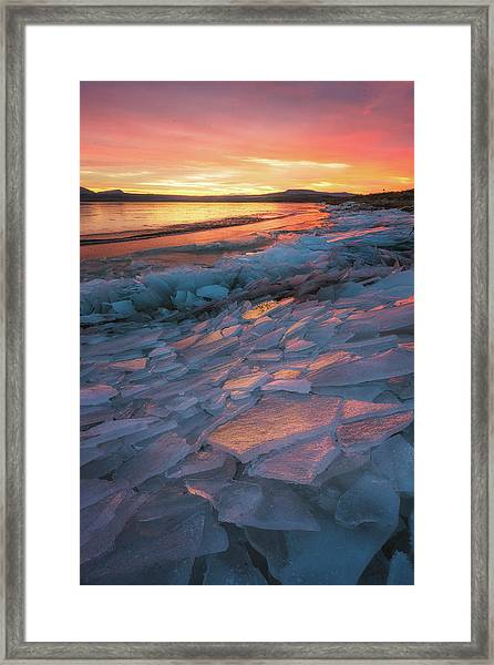 Pink Ice Framed Print