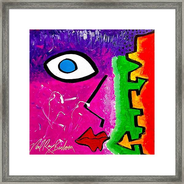Pink Is The New Blue Framed Print