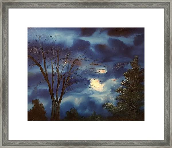 Pink Moon      19 Framed Print