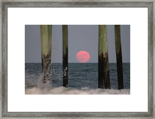 Pink Moon Rising Framed Print