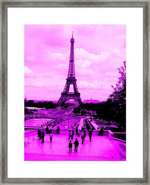 Pink Paris Framed Print