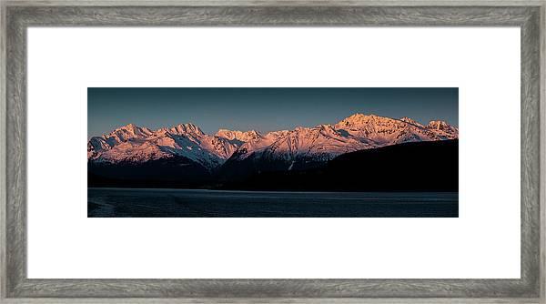 Pink Peaks II Framed Print