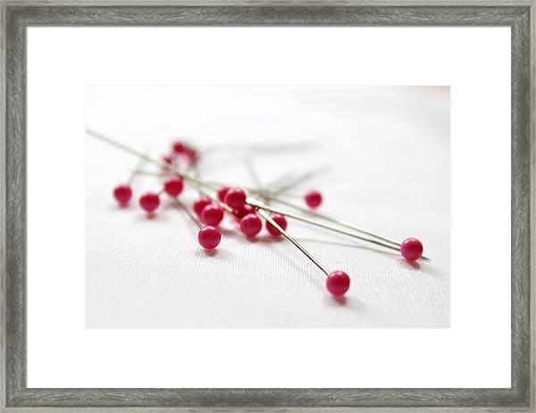 Pink Pins Framed Print