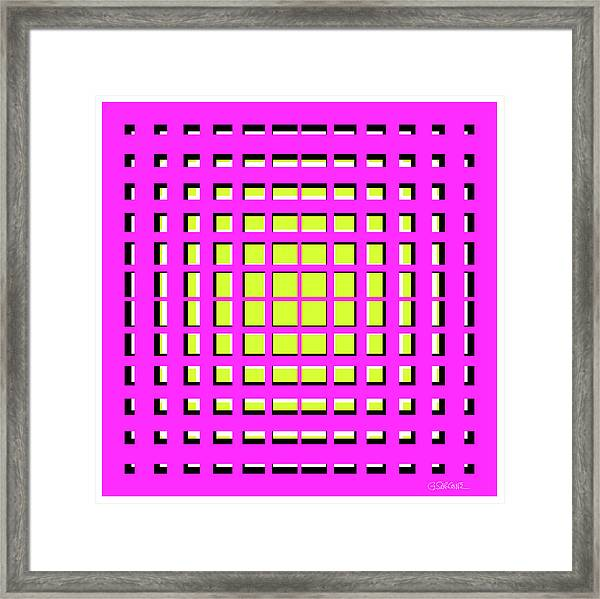 Pink Polynomial Framed Print