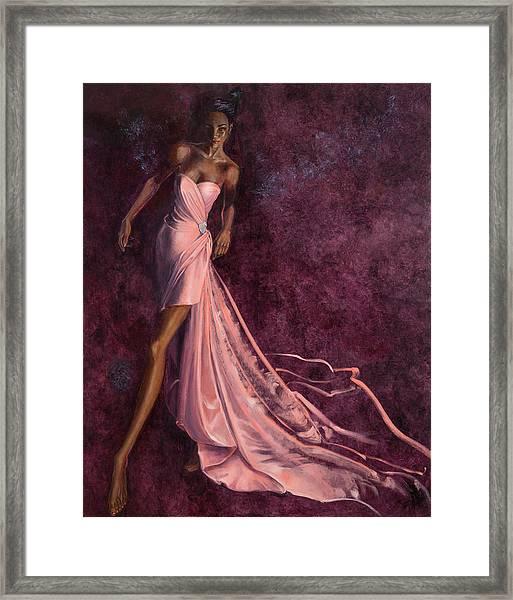 Pink Prowl Framed Print by Barbara Tyler Ahlfield