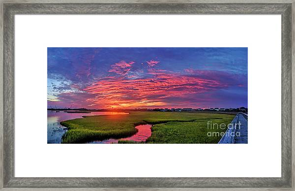 Framed Print featuring the photograph Pink River by DJA Images