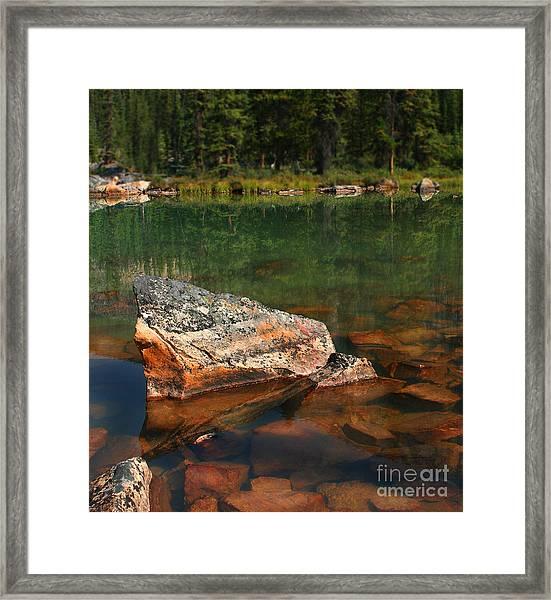 Pink Rocks Framed Print