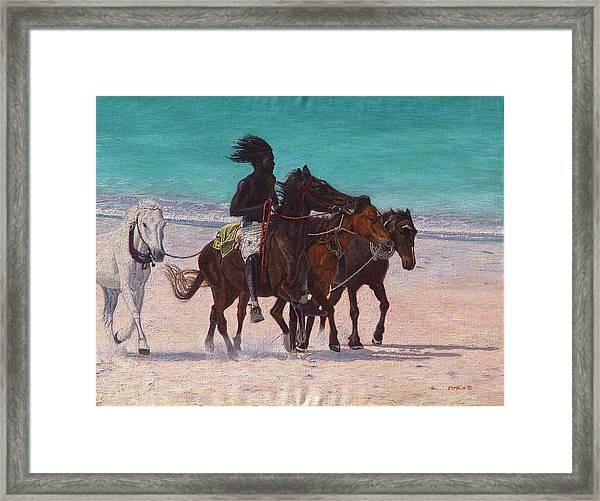Pink Sand Rider Framed Print