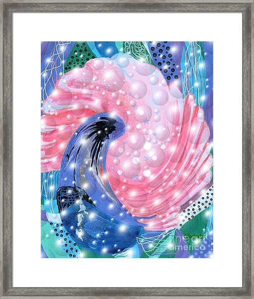 Pink Shell Fantasia Framed Print