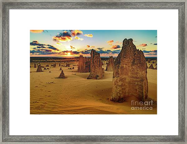 Pinnacles 8 Framed Print
