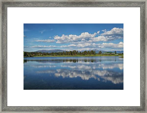 Framed Print featuring the photograph Pinon Lake Reflections by Jason Coward