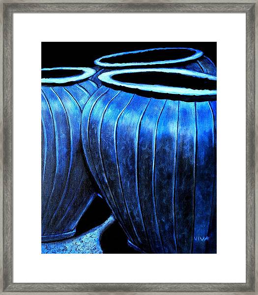 Pinstripe Pots Framed Print